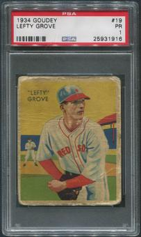 1934-36 Diamond Stars Baseball #1 Lefty Grove PSA 1 (PR)