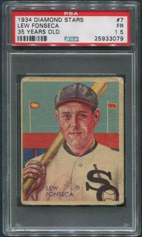 1934-36 Diamond Stars Baseball #7 Lew Fonseca 35 Years Old PSA 1.5 (FR)