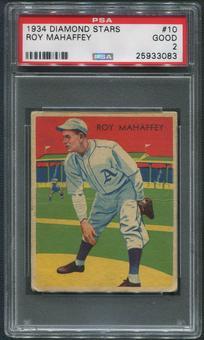 1934-36 Diamond Stars Baseball #10 Leroy Mahaffey PSA 2 (GOOD)