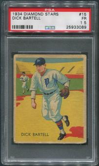 1934-36 Diamond Stars Baseball #15 Dick Bartell PSA 1.5 (FR)
