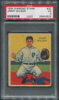 1934-36 Diamond Stars Baseball #22 Jimmy Wilson PSA 3 (VG)