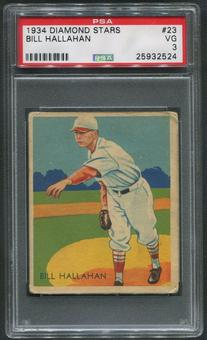 1934-36 Diamond Stars Baseball #23 Bill Hallahan PSA 3 (VG)