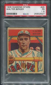 1934-36 Diamond Stars Baseball #25 Walter Berger PSA 1.5 (FR)
