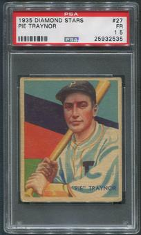 1934-36 Diamond Stars Baseball #27 Pie Traynor PSA 1.5 (FR)