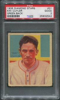 1934-36 Diamond Stars Baseball #31 Kiki Cuyler PSA 2 (GOOD)