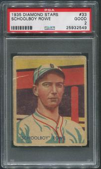 1934-36 Diamond Stars Baseball #33 Schoolboy Rowe PSA 2 (GOOD)