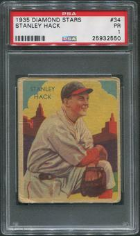 1934-36 Diamond Stars Baseball #34 Stan Hack PSA 1 (PR)
