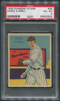 1934-36 Diamond Stars Baseball #35 Earl Averill PSA 4 (VG-EX)