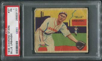 1934-36 Diamond Stars Baseball #37 Billy Urbanski PSA 1 (PR)