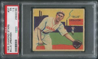 1934-36 Diamond Stars Baseball #37 Billy Urbanski PSA 1.5 (FR)