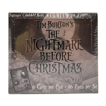 Nightmare Before Christmas Movie Trading Cards Box (NECA 2001)