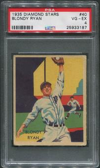 1934-36 Diamond Stars Baseball #40 Blondy Ryan PSA 4 (VG-EX)