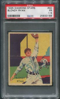 1934-36 Diamond Stars Baseball #40 Blondy Ryan PSA 1.5 (FR)