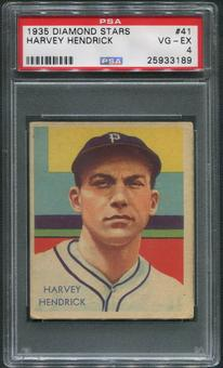 1934-36 Diamond Stars Baseball #41 Harvey Hendrick XRC PSA 4 (VG-EX)