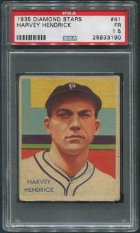 1934-36 Diamond Stars Baseball #41 Harvey Hendrick XRC PSA 1.5 (FR)