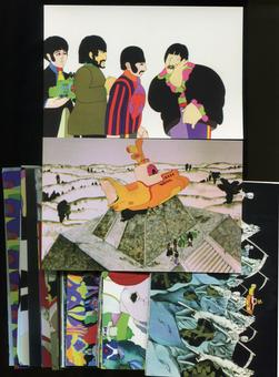 The Beatles: Yellow Submarine Large Format Collector Cards Complete 72-Card Set (Comic Images)