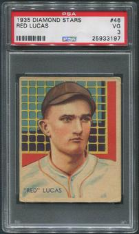 1934-36 Diamond Stars Baseball #46 Red Lucas PSA 3 (VG)