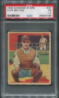 1934-36 Diamond Stars Baseball #47 Cliff Bolton XRC PSA 1.5 (FR)