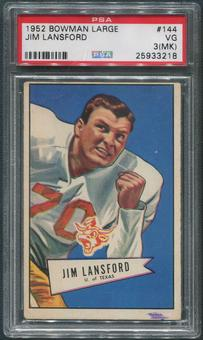 1952 Bowman Large Football #144 Jim Lansford SP Rookie PSA 3 (VG) (MK)