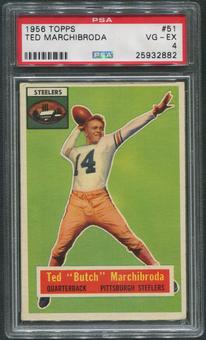 1956 Topps Football #51 Ted Marchibroda PSA 4 (VG-EX)