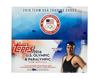 2016 Topps U.S. Olympic Team 24-Pack Box (1 Relic & 1 Commemorative Relic Per Box!)
