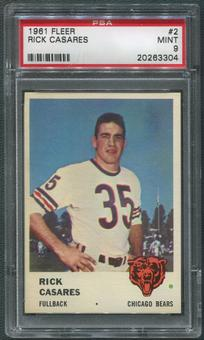1961 Fleer Football #2 Rick Casares PSA 9 (MINT)