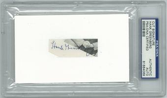 Hank Greenberg Autographed Detroit Tigers Cut Signature (PSA)