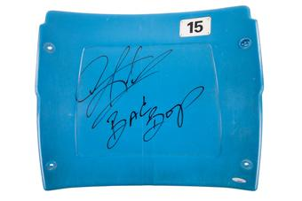 "Dennis Rodman Autographed Detroit Pistons Pontiac Silverdome Seatback with ""Bad Boys"" Inscrip. (Tristar)"