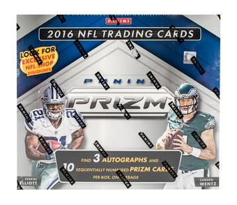 2016 Panini Prizm Football Hobby Jumbo Box