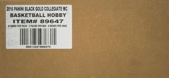 2016/17 Panini Black Gold Collegiate Basketball Hobby 8-Box Case