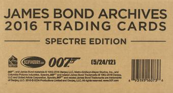 James Bond Archives Spectre Edition Trading Cards 12-Box Case (Rittenhouse 2016)