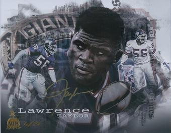 Lawrence Taylor Autographed 8x10 Photo 2016 The National Panini VIP Super 1 of 24