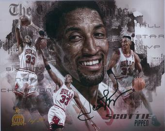 Scottie Pippen Autographed 8x10 Photo 2016 The National Panini VIP Super 1 of 24