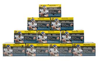 2014 Upper Deck CFL Football 8-Pack Box (Lot of 10)