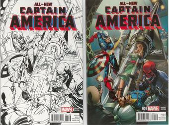 Captain America #1 NM Stan Lee Collectibles/Campbell Variant Set