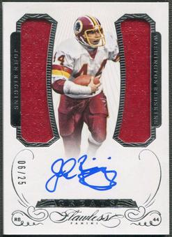 2015 Panini Flawless #6 John Riggins Greats Dual Patch Auto #06/25