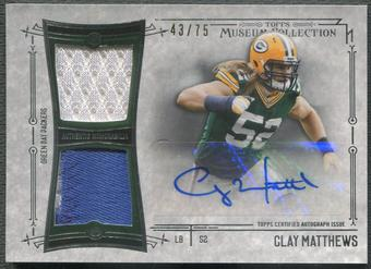 2014 Topps Museum Collection #SSDRACM Clay Matthews Patch Auto #43/75
