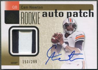 2011 SP Authentic #204 Cam Newton Rookie Patch Auto #153/299