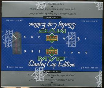 1999/00 Upper Deck MVP Stanley Cup Edition Hockey Retail Box