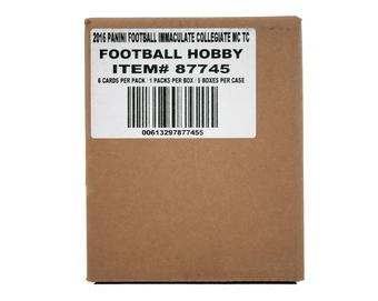 2016 Panini Immaculate Collegiate Football Hobby 5-Box Case