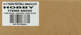 2016 Panini Immaculate Football Hobby 6-Box Case
