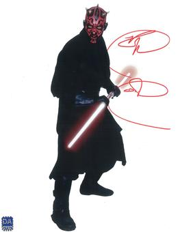 Ray Park Autographed Darth Maul Stand 8x10 Star Wars Photo