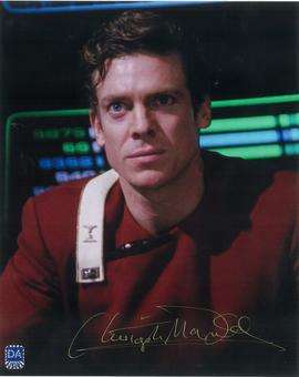 Christopher McDonald Autographed Lt Castillo 8x10 Star Trek Photo