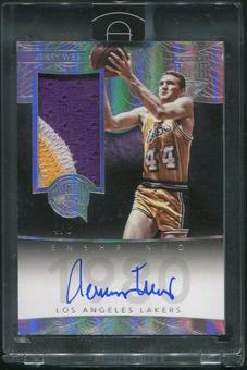2014/15 Panini Eminence #5 Jerry West HOF Silver Patch Auto #4/8