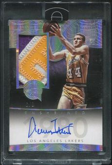 2014/15 Panini Eminence #5 Jerry West HOF Silver Patch Auto #6/8