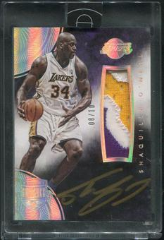 2014/15 Panini Eminence #24 Shaquille O'Neal Silver Patch Auto #08/10
