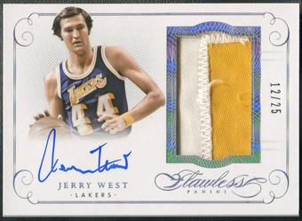 2014/15 Panini Flawless #12 Jerry West Patch Auto #12/25