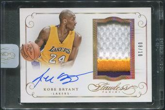 2014/15 Panini Flawless #1 Kobe Bryant Gold Patch Auto #08/10