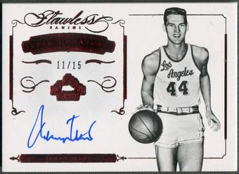 2014/15 Panini Flawless #31 Jerry West Super Signatures Ruby Auto #11/15