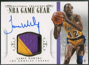 2014/15 Panini National Treasures #GGSJWO James Worthy Game Gear Patch Auto #6/8